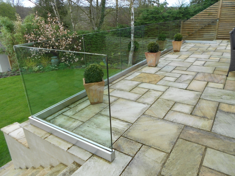 Balustrades balconies stairs kerry kingdom glass for Garden decking glass panels